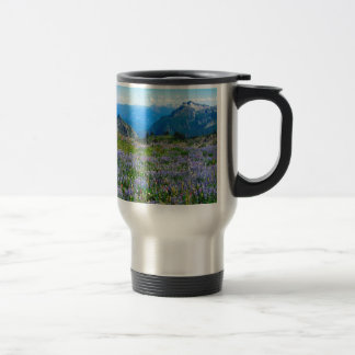 Neblina del brezo púrpura de la montaña taza de viaje