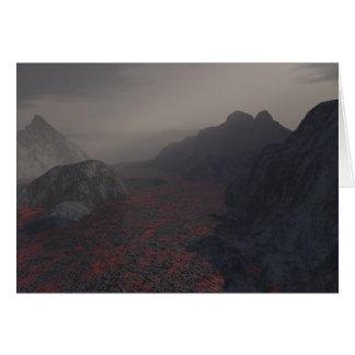 neblina del magma tarjeta de felicitación