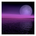neblina del rosa de la subida de la luna impresiones