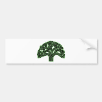 Neblina del verde del árbol de Oakland Pegatina Para Auto