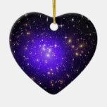 Neblina púrpura de estrellas en la noche adorno para reyes