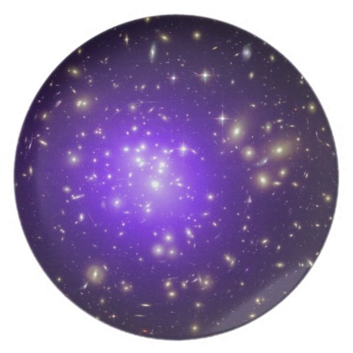 Neblina púrpura de estrellas plato para fiesta