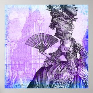 Neblina púrpura LG de Marie Antonieta. Poster Póster