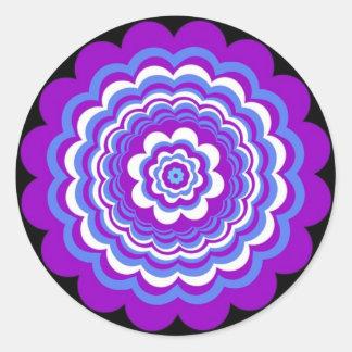 Neblina púrpura pegatina redonda