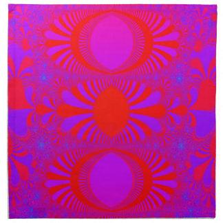 Neblina púrpura servilleta imprimida