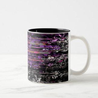 Neblina púrpura taza dos tonos