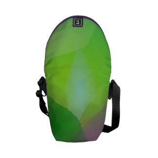 Neblina verde de la camelia bolsas de mensajeria
