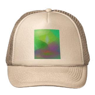 Neblina verde de la camelia gorras de camionero