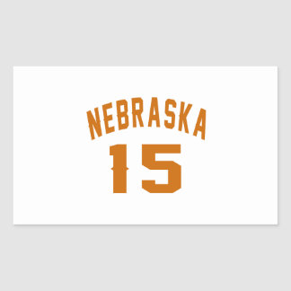 Nebraska 15 Birthday Designs Rectangular Sticker