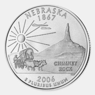 Nebraska 2006_NE_Unc Classic Round Sticker