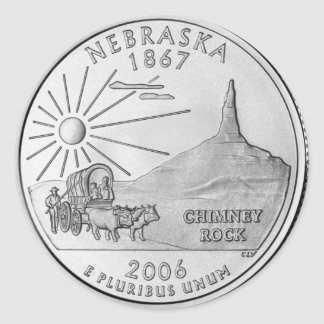 Nebraska 2006_NE_Unc Round Sticker