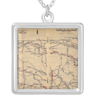 Nebraska 2 square pendant necklace