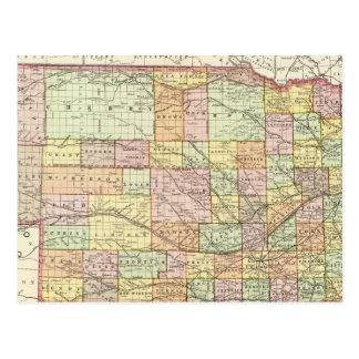 Nebraska 4 tarjeta postal
