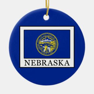 Nebraska Adorno Navideño Redondo De Cerámica