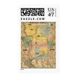 Nebraska and Kansas 2 Postage
