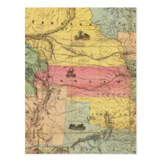 Nebraska and Kansas 2 Postcard