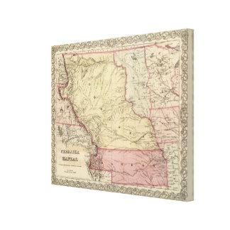 Nebraska and Kansas 3 Gallery Wrapped Canvas