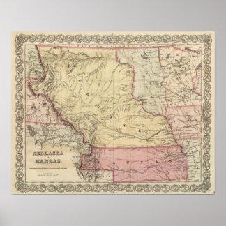 Nebraska and Kansas 3 Poster