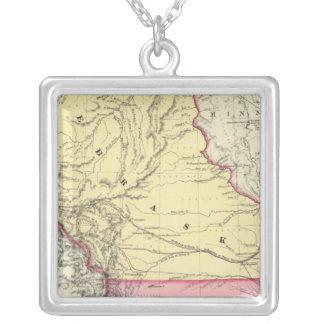 Nebraska And Kanzas Square Pendant Necklace