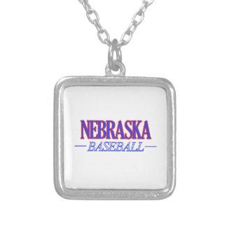 Nebraska baseball DESIGNS Square Pendant Necklace