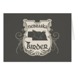 Greeting Card with Nebraska Birder design