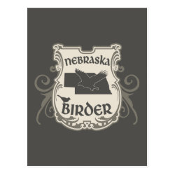 Postcard with Nebraska Birder design