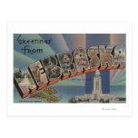 Nebraska (Capital del Estado/flor) Tarjeta Postal