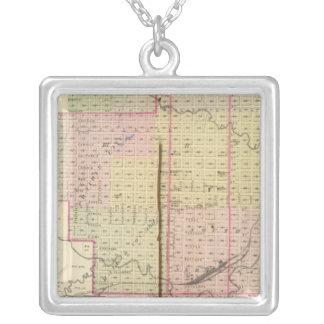 Nebraska City, Nebraska Square Pendant Necklace