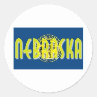 Nebraska Classic Round Sticker
