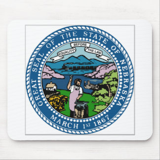 Nebraska Coat of Arms Mouse Pad