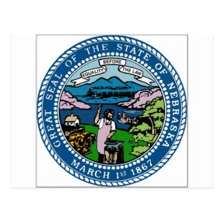 Nebraska Coat of Arms Postcard