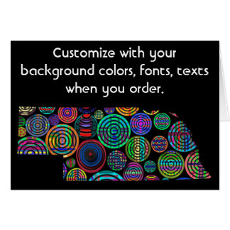 Nebraska Colorful Customize card how you want it