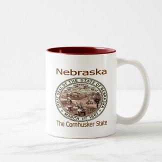 Nebraska Cornhusker State Seal Two-Tone Coffee Mug