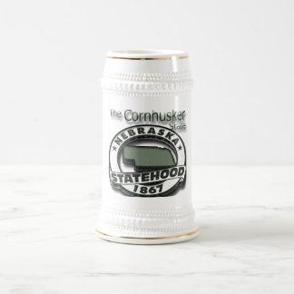 Nebraska Cornhusker Statehood Beer Stein