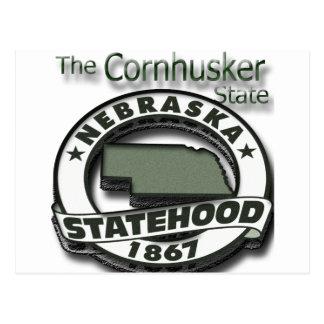 Nebraska Cornhusker Statehood Postcard