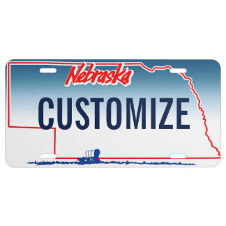 Nebraska Custom License Plate