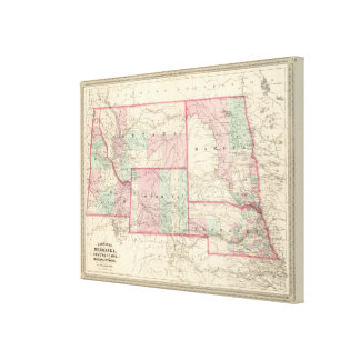 Nebraska, Dakota, Idaho, Montana, and Wyoming Canvas Print
