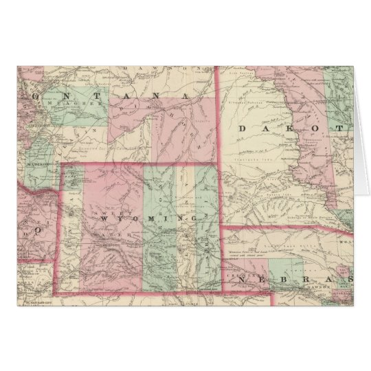 Nebraska, Dakota, Idaho, Montana, and Wyoming Card
