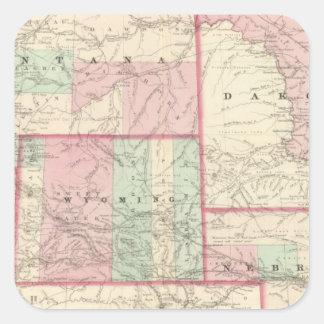Nebraska, Dakota, Idaho, Montana, and Wyoming Square Sticker