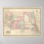 Nebraska, Dakota, Idaho, Montana, y Wyoming Póster
