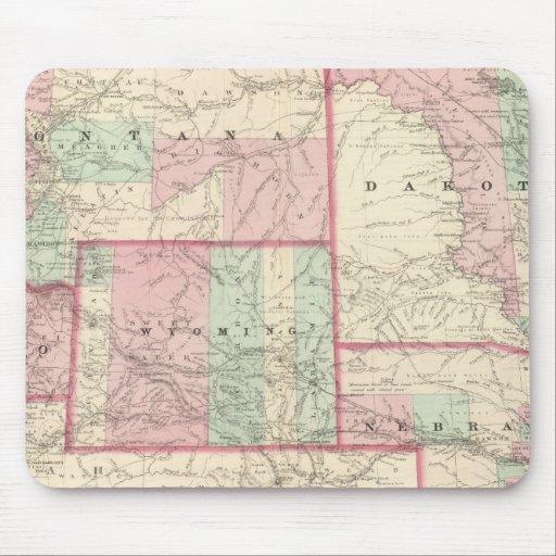 Nebraska, Dakota, Idaho, Montana, y Wyoming Tapete De Ratón