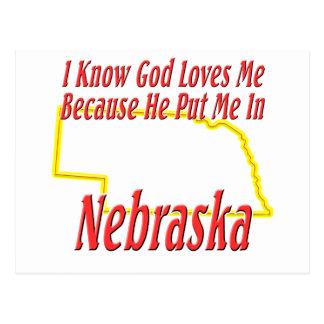 Nebraska - dios me ama postal