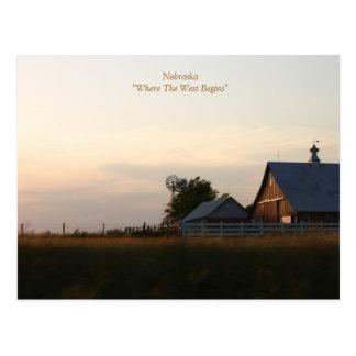 """Nebraska """" donde el oeste comienza """" postales"""