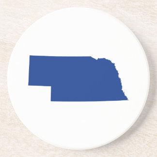 Nebraska en azul posavasos de arenisca