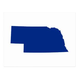 Nebraska en azul postales