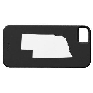 Nebraska en blanco iPhone 5 Case-Mate cárcasas