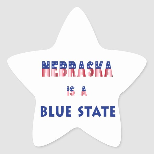 Nebraska es un estado azul calcomania cuadrada personalizada