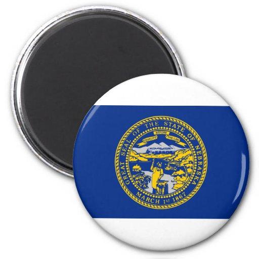 Nebraska Flag 2 Inch Round Magnet