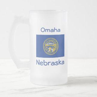 Nebraska Flag Map City Mug