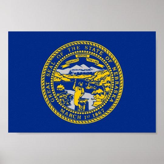 Nebraska Flag Poster
